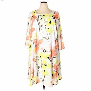 Lane Bryant Floral Casual Dress.